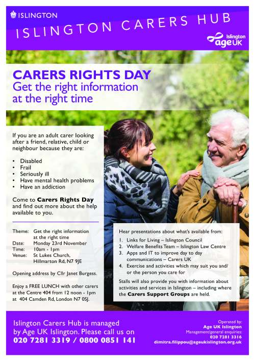 ICH Carers Rights Day A4 Flyer