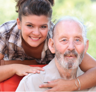 Carer and cared for